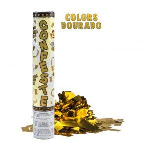 Lança Confete 25cm Ouro Mundo Bizarro
