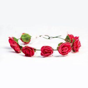 Tiara de Rosas Vermelhas