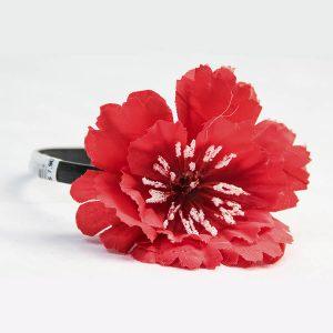 Tiara Flor Vermelha
