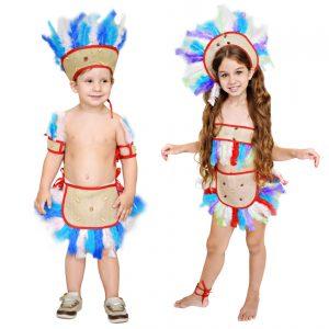 Fantasia Infantil Índio (Conjunto)