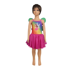 Fantasia Infantil de Fada (Rosa e Amarela)