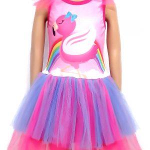 Fantasia Infantil Flamingo (Opções de Estampa)