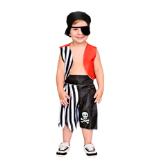 Fantasia Infantil Pirata (Colete e Calça)