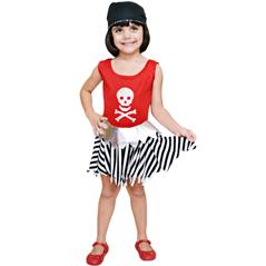 Fantasia Infantil Menina Pirata Wynne