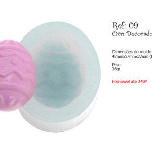 ovo decorado – Flexarte – molde – forneável