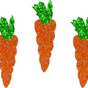 Aplique glitter cenoura