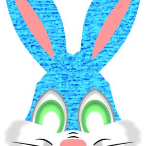 máscara coelho azul 20×31
