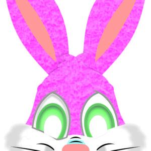 máscara coelho rosa 20×31