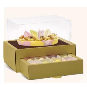 Caixa meio ovo com gaveta