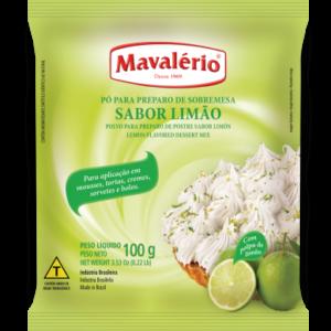PÓ PARA PREPARO DE SOBREMESA SABOR LIMÃO MAVALÉRIO