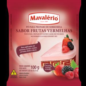 PÓ PARA PREPARO DE SOBREMESA SABOR FRUTAS VERMELHAS MAVALÉRIO