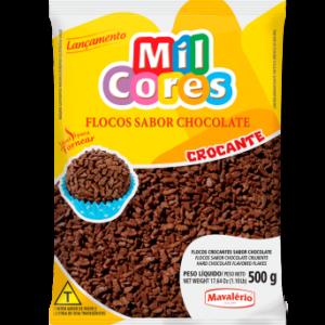 FLOCOS CROCANTES SABOR CHOCOLATE MIL CORES
