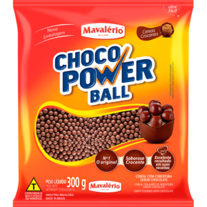 Cereal Drageado Micro Sabor Chocolate Choco Power Ball