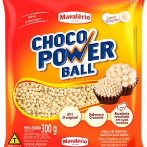 Cereal Drageado Micro Sabor Chocolate Branco Choco Power Ball