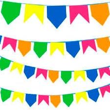 Bandeirinhas Plásticas Coloridas Grande