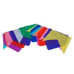 Bandeirinhas de seda